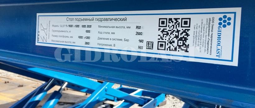 Стандартная окраска продукции Гидроласт - синяя