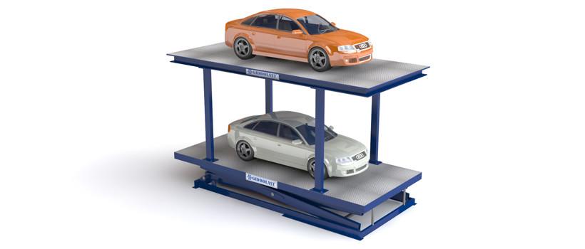 Подъемник для легковых автомобилей для парковки