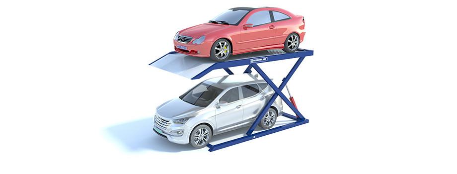 Парковочный подъемник на два автомобиля на заказ